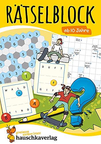 Rätselblock ab 10 Jahre, Band 1, A5-Block: Kunterbunter Rätselspaß:...