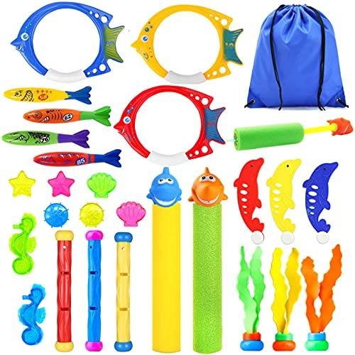 Paochocky 24 Stück Tauchen Spielzeug für Kinder Tauchspielzeug Set...