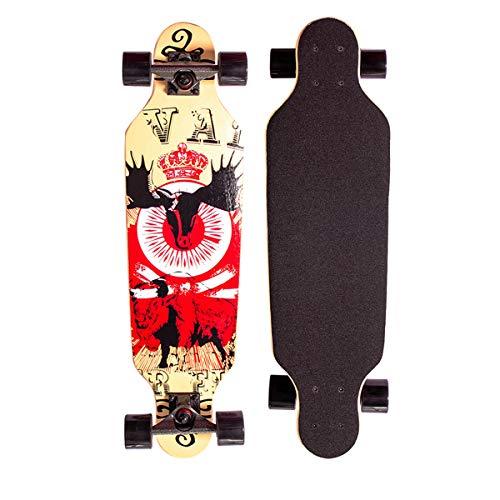Sumeber Longboard Skateboard 31 Zoll for Anfänger Twin Tip Street...