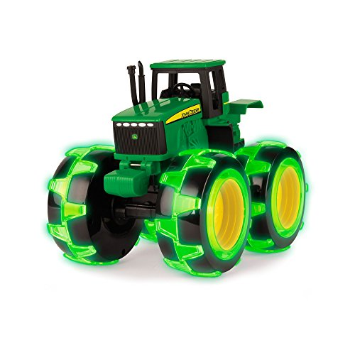 Spielzeugtraktor John Deere Monster Treads in grün, Traktor mit leuchtenden Rädern in NEON grün, zum...