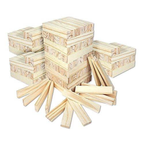 Schramm® 300 Stück Holzbausteine für Kinder...