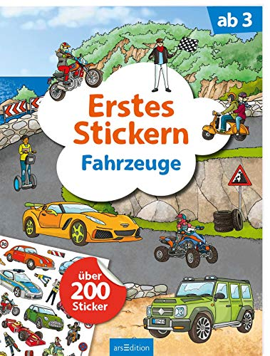 Erstes Stickern Fahrzeuge: Über 200 Sticker   Erstes Stickerheft für...
