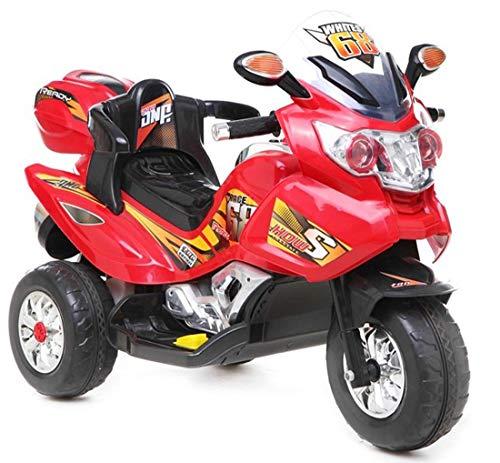 fit4form Kindermotorrad Power Trike Race Red Elektromotorrad 12V Kinderfahrzeug elektrisch