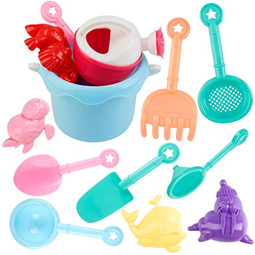Joyibay 12 Stück Sandspielzeug Set Strandspielzeug...