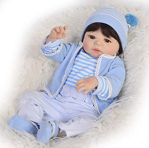 TOYSBBS 22 Zoll 55cm Reborn Babys Mädchen Lebensechte Silikon Vinyl Reborn Babypuppen Günstig Reborn Toddler...