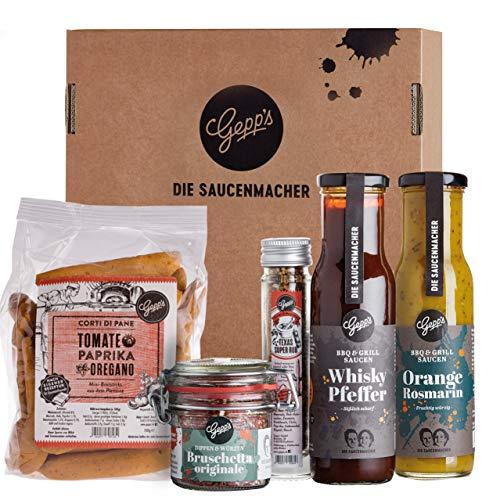 Gepp's Feinkost Grill & BBQ Paket Single I Für Männer & Frauen mit...