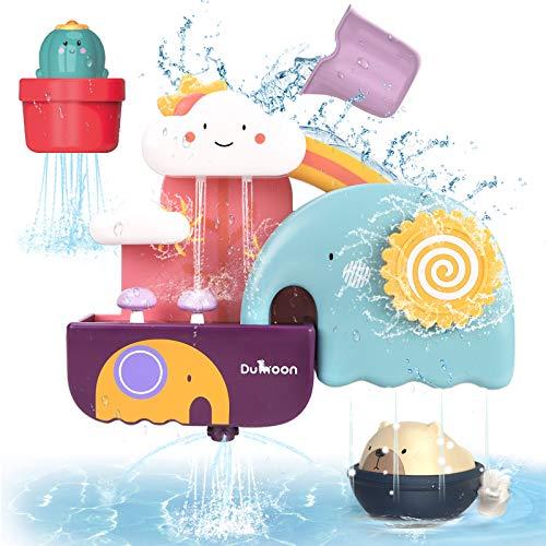 GILOBABY Kinder badespielzeug, Badewannenspielzeug mit Tasse, Bär und...