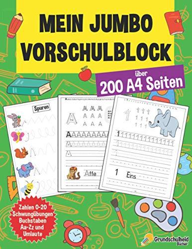 Mein Jumbo Vorschulblock: Spielend einfach Zahlen und Buchstaben...