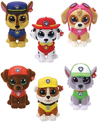 TY Mini Boos Collectables Paw Patrol 6 cm - alle 6 Minifiguren -...
