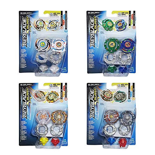 Beyblade Burst B9491EU63 Megaset 4X Doppelpack = 8 Kreisel, Mehrfarbig