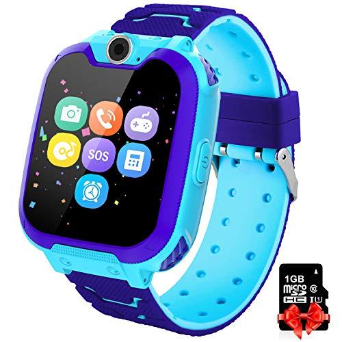 PTHTECHUS Kinder Spiel Smartwatch Telefon - Kinderuhr mit Rechner 7...