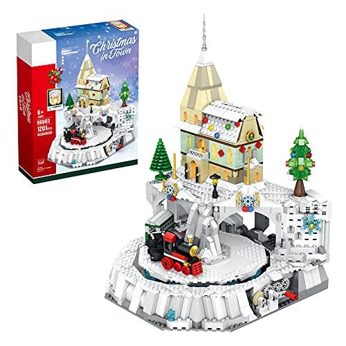 ITOP Weihnachtsstadt Szenen Bausatz mit Licht, 1203 Teile...