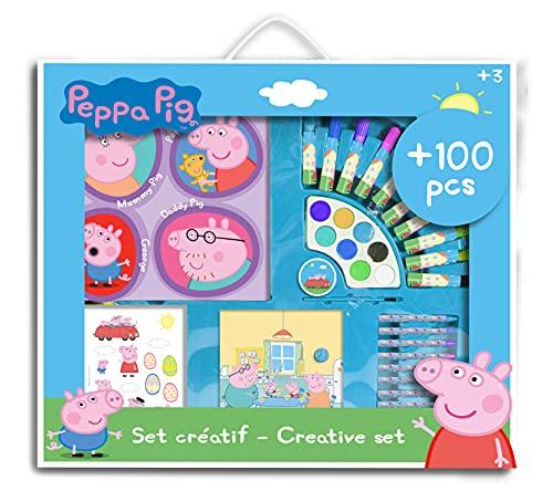 PEPPA PIG- Kreativ-Set für Kinder, CPEP282, Blau