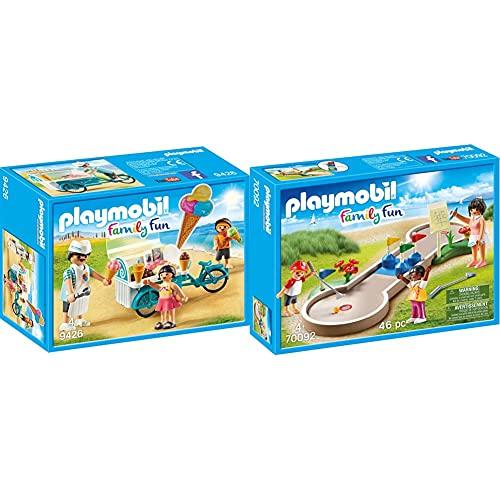 PLAYMOBIL Family Fun 9426 Fahrrad mit Eiswagen, ab 4 Jahren & 70092...