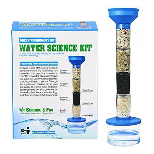 junengSO Clean Water Experiment Kit Kinder DIY Abwasserfilter Reinigungssystem Spielzeug