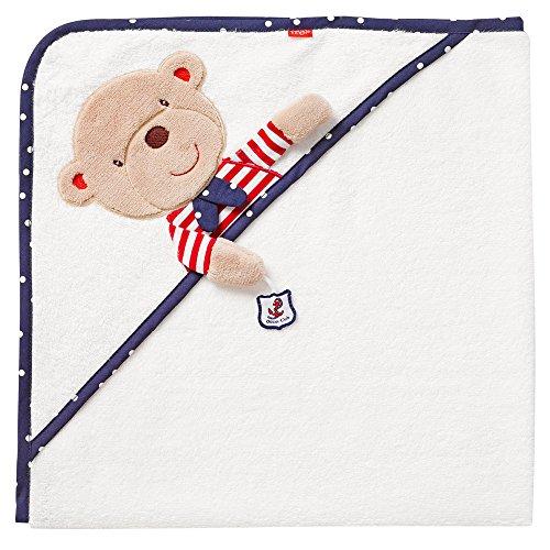 Fehn 078510 Kapuzenbadetuch Teddy – Bade-Poncho aus Baumwolle mit...