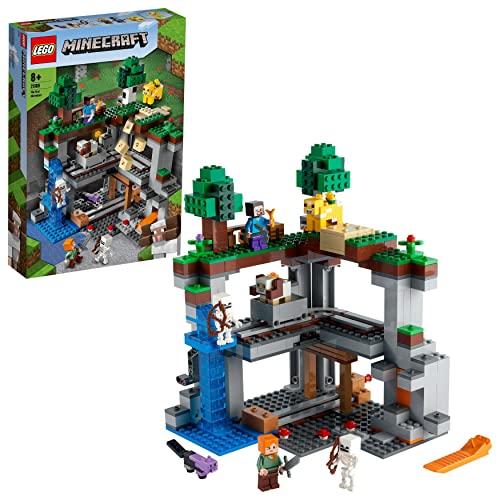 LEGO 21169 Minecraft Das erste Abenteuer Spielset mit Steve, Alex, 2...