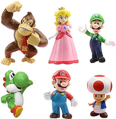 BESLIME Super Mario Brothers Mini Figuren Set, Sammelfiguren, Figuren...