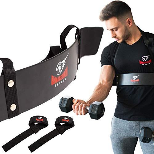 Bizeps Isolator Arm Blaster Curl + BONUS Premium Lifting Straps,...