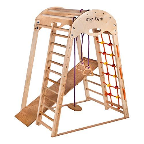 RINAGYM Kletterdreieck - Indoor-Spielplatz aus Holz für Kinder -...