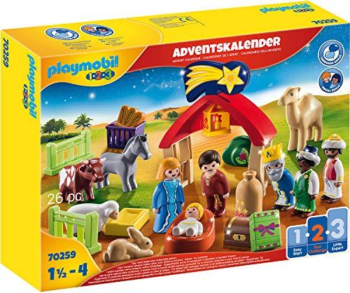 PLAYMOBIL Adventskalender 70259 Weihnachtskrippe, Für Kinder ab 1,5...