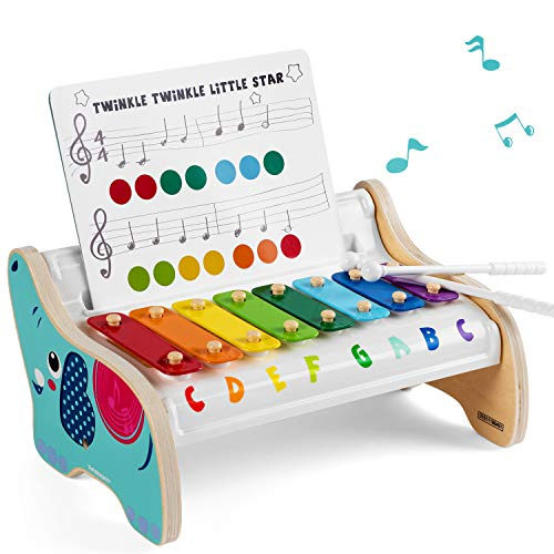 TOP BRIGHT Holz Xylophon Kinder 1 Jahr, Musik Instrumente Kinder Holz,...