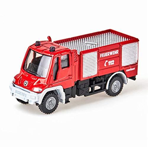 SIKU 1068, Feuerwehr Unimog, 1:87, Metall/Kunststoff, Rot, Bereifung...