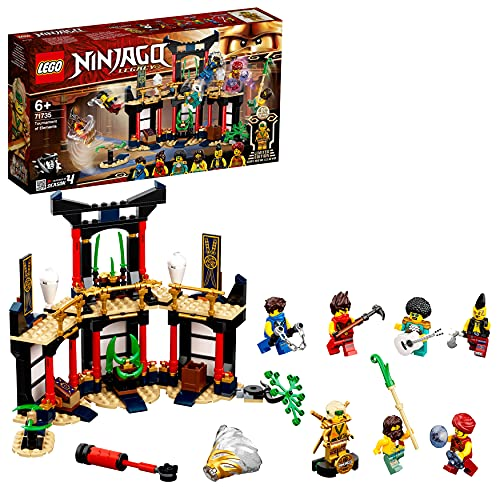 LEGO 71735 NINJAGO Turnier der Elemente Tempel Bauset mit Kampfarena...
