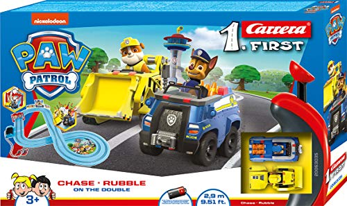 Carrera 20063035 First-Paw Patrol-On Double 2,9m, Mehrfarbig