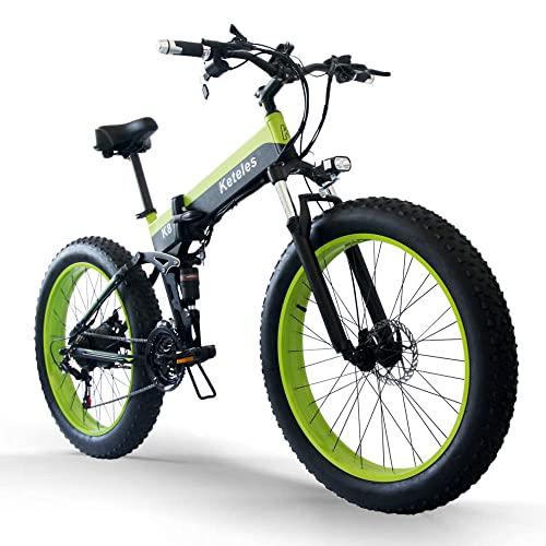 26 Zoll Ebike Mountainbike, 1000W Klapprad E Mountainbike mit 48V 15Ah...