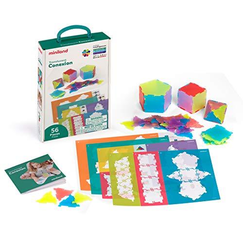 Miniland 32167 Konstruktionsspiel für Leuchttsche, Mehrfarbig