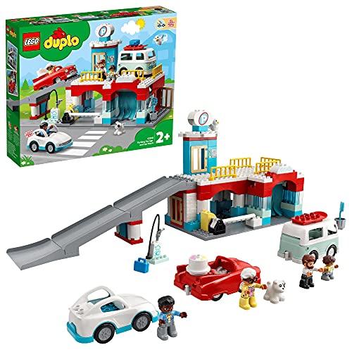 LEGO 10948 DUPLO Parkhaus mit Autowaschanlage, Spielzeugautos,...