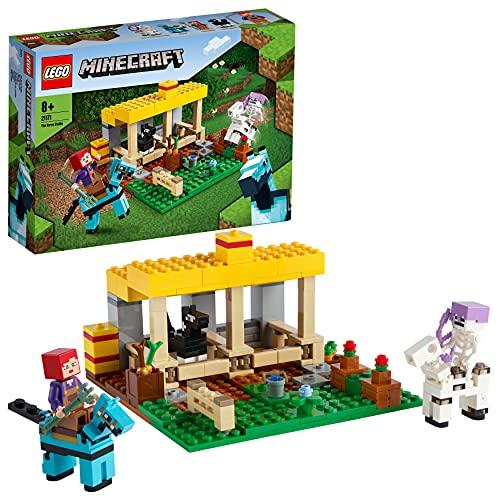 LEGO 21171 Minecraft Der Pferdestall Bauernhof Spielzeug, Set mit...