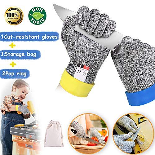 Dzsee Schnittfeste Handschuhe Kinder, Arbeitshandschuhe Kinder, Handschuhe für Gartenbau, Leistungsfähiger...