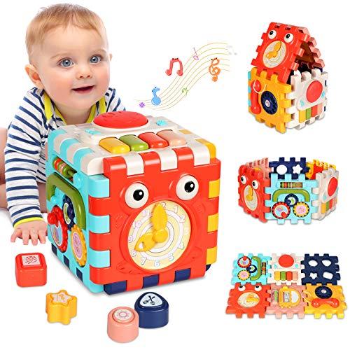 ATCRINICT 6-in-1 Aktivitätswürfel Babyspielzeug für 6-18 Monate...