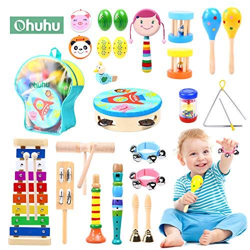Ohuhu 28 Stück Musikinstrumente für Kinder, Musical Instruments Set...