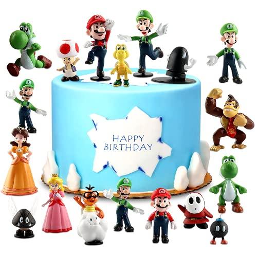 Super Mario Brothers, Super Mario Tortenfiguren, Mini Figuren...