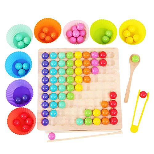 Holz Clip Beads Brettspiel, Montessori Pädagogisches...