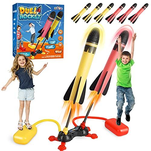 BOXYUEIN Outdoor Spielzeug, Rakete Spielzeug ab 5-12 Jahre Junge...