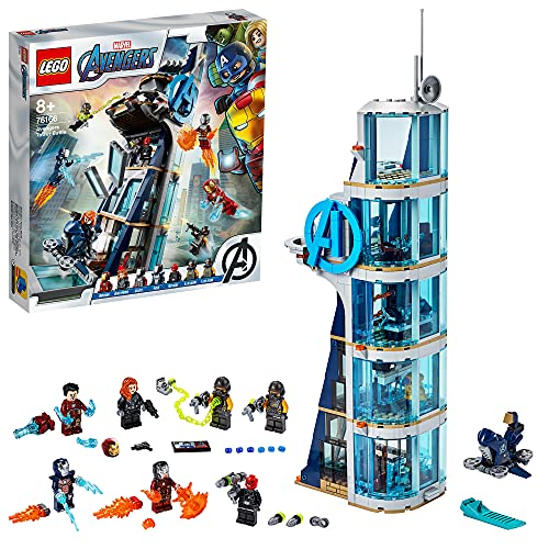 LEGO 76166 Marvel Avengers – Kräftemessen am Turm, Bauset mit Iron...