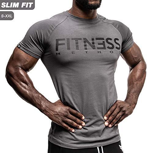 Fitness Method, Sport T-shirt Herren, Slim-Fit Shirt bequem &...