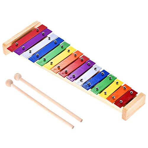 Ammoon Xylofon / Glockenspiel für Kinder, Holz und Aluminium, bunt,...