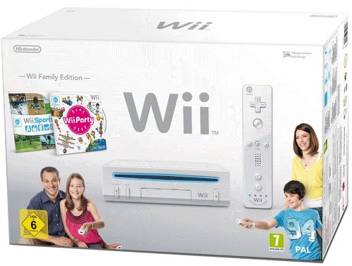 Nintendo Wii 'Family Edition' - Konsole inkl. Wii Sports + Wii Party, weiß