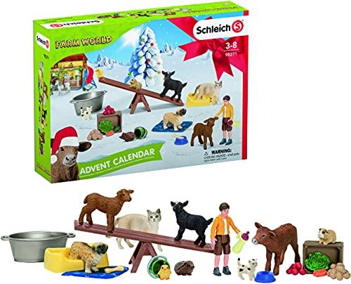 SCHLEICH 98271 Spielset - Adventskalender Farm World 2021 (Farm...