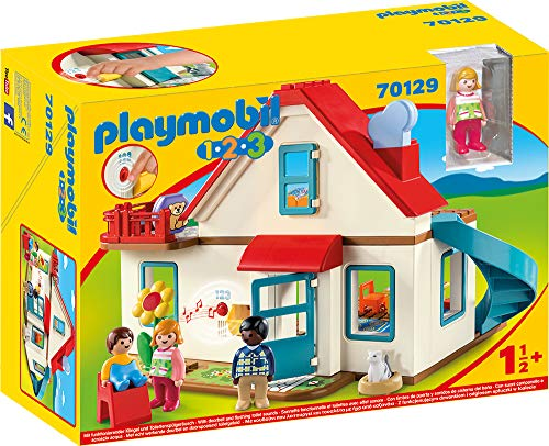 Playmobil 1.2.3 70129 Einfamilienhaus, Mit funktionsfähiger Klingel...