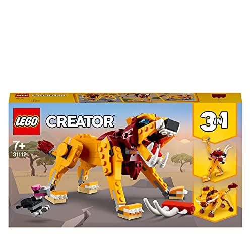 LEGO 31112 Creator 3-in-1 Wilder Löwe, Strauß oder Warzenschwein...