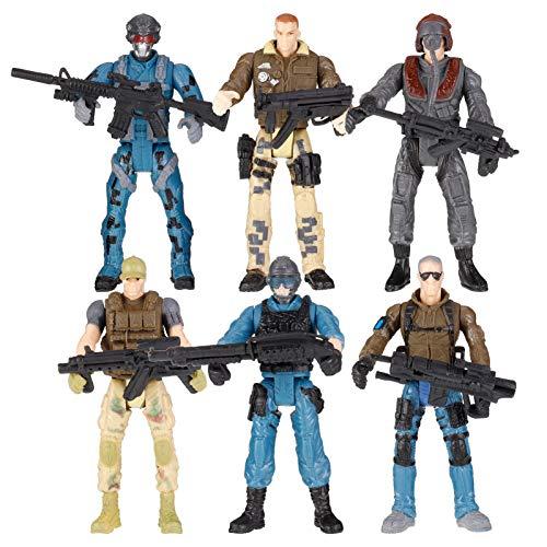 Smilcloud 6 Stück Soldat Figur Spielzeug Actionfigur...