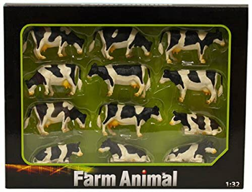 Kids Globe 571929 Kühe schwarz/weiß 1:32 Ÿ, 12 Stück, für...