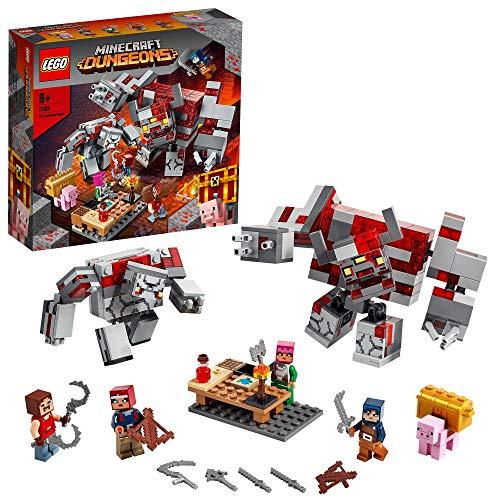 LEGO 21163 Minecraft Das Redstone-Kräftemessen Bauset mit Golem- und Monsterfiguren, Spielzeug für Kinder ab...