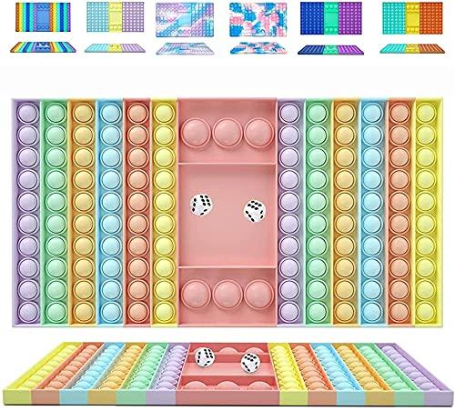 NAUXIU Big Size Push Pop Bubble Fidget,Big Size Push Pop Fidget Toy,...
